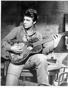 Ricky Nelson (1940 - 1985). Photo from the film Rio Bravo...with Dean Martin and John Wayne.