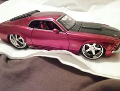 Jada Toys 1970 BigTime Muscle Mustang Boss 429 1:24 Diecast Car Maroon Black #JadaToys #Ford