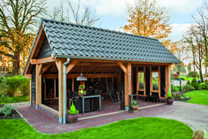 shed building plans Backyard Pavilion, Outdoor Pavilion, Backyard Sheds, Backyard Patio Designs, Backyard Landscaping, Shed Building Plans, Shed Plans, Building A House, Building Structure