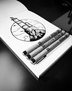 Micron art #pen #diary