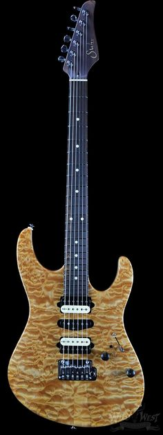 Suhr Custom Modern Natural Quilt top with Cocobolo Neck and Knobs - Wild West Guitars