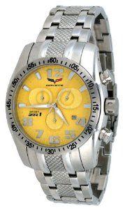 Corvette #CR288 Men's Sport ZR1 Collection Yellow Dial Swiss Chronograph Watch
