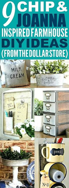 These dollar store farmhouse decor ideas are really great! I'm happy I found these cute fixer upper kitchen and home decor ideas! Now I have some great ways to make my home look like Chip and Joanna Gaines' farmhouse style! #farmhouse #farmhousestyle #fixerupper #fixerupperstyle #dollarstore #dollarstoredecor #dollarstorehacks #chipandjoanna #chipandjoannagaines