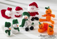 https://flic.kr/p/ivcWTE | Holiday Bootie Buddies Set 1 Crochet Pattern PA983 |  Holiday Bootie Buddies Set 1 Crochet Pattern  is available for mail or download. Click here for pattern details www.maggiescrochet.com/products/holiday-bootie-buddies-se...