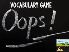 Teaching In The Fast Lane: Vocabulary Games