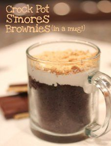 Did you ever wonder if you could make brownies in a slow cooker? You can with this recipe for Smores Brownies in a Mug, which makes individual portions of the delightful dessert. Make these slow cooker brownies straight from the boxed mix. Its so quick and easy, especially with only three ingredients.
