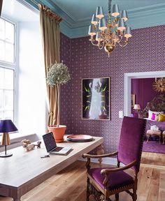 Royal and Purple... #interiordesign #homeoffice #purple