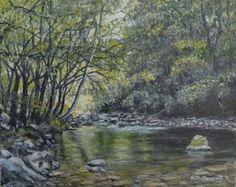 Smokey Mountain Stream 11X14 oil by Kathleen McDermott