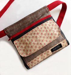 Fabric waist bag no link Diy Sac, Hip Bag, Denim Bag, Fabric Bags, Tote Purse, Belt Purse, Small Bags, Handmade Bags, Handbag Accessories