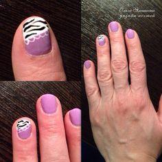 Кружева #nail #nails #ногти #маникюр #рисунок #зебра #nailart #art #naildesign #design #nailstyle #style #lace #zebra