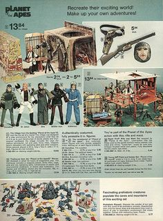 Planet of the Apes page from the 1974 JC Penney's Christmas catalog. Got it.