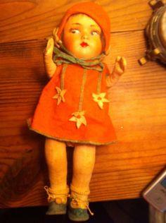 Vintage Lenci type Doll by Vintageoftheday on Etsy