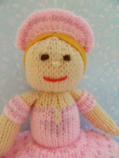 Toy Knitting Pattern - Betsy the Ballerina Doll - PDF E-mail £2.50 http://folksy.com/items/4410560-Toy-Knitting-Pattern-Betsy-the-Ballerina-Doll-PDF-E-mail