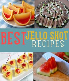Jello Shot Recipes Jello shots can be a hit if you have the right recipe & know how to make them. We have the best jello shot recipes including vodka & strawberry margarita. Party Drinks, Fun Drinks, Yummy Drinks, Yummy Food, Bbq Party, Alcoholic Beverages, Best Jello Shots, Vodka Jello Shots, Jello Shooters