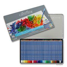 Cretacolor MARINO Aquarellstifte - 36 Farben sortiert im Metalletui