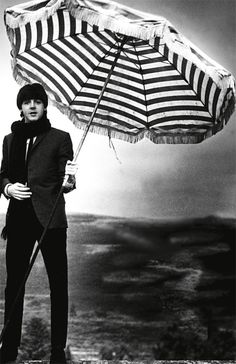 beatles - paul with umbrella, brolly
