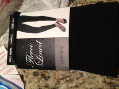 $6.99 fleece lined leggings from Walgreen's. #bestpurchaseever #walgreens