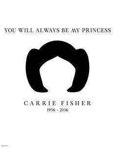 Carrie Fisher ilustraciones Princesa Leia
