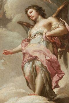 "jaded-mandarin: "" Francisco Bayeu y Subías. Detail from Abraham and the Three Angels, 1771. """