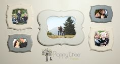 Picture frame sets are the best! Usually difficult to piece together as a set, but PoppyTreeFrames.com has done the hard work and has made available per-made sets, that you can customize!!!