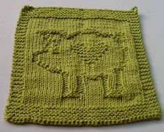 Ravelry: Heart Pig pattern by Susan Mrenna Knitted Squares Pattern, Knitted Washcloth Patterns, Knitted Washcloths, Dishcloth Knitting Patterns, Crochet Dishcloths, Knitting Kits, Crochet Blanket Patterns, Knitted Blankets, Loom Knitting