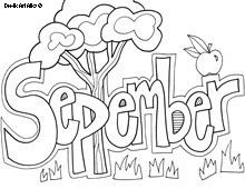 Free printable Months-of-the-Year coloring pages