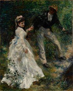 La Promenade by Pierre-Auguste Renoir. #art #painting