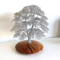 CM192 is mounted on a Yew base and is 400mm tall. #wiretreesinspire #wire #tree #sculpture #unique #handmade #art #craft #wood #gift #woodland #forest #nature #artmagazine #wireart #wireartist #bonsai #sculptor #original #natural #bonsaitree #wiretrees #wiretreesculpture #gallery #handmadeinbritain #forests #woodlands  www.wirewood.co.uk