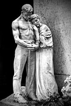 Grieving their child by attomanen.deviantart.com on @deviantART cimitero monumentale en Milan