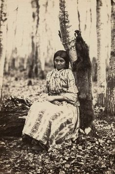Jane L'Adamar (aka 'Susan'), a Swampy Cree Métis woman, photographed 1858 by H.L. Hime. Source: Library and Archives Canada PA-195394.