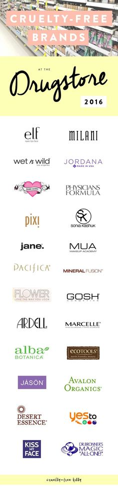 A ton of affordable brands that aren't tested on animals.