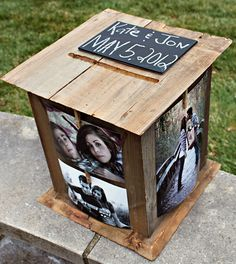 photo wedding card boxes