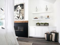 This crisp, white bedroom provides a modern take on cottage style. The space…