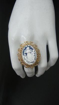 Guardian Angel Cameo Ring