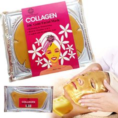 The Nancy Reagan 24k Gold Collagen Face and Neck mask combo is an innovative gold collagen mask formulated with bio-active ingredients including pure natural extracts and plant collagen. The one-way a