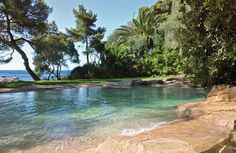 Outdoor , Natural Swimming Pools Giving Beauty To Your Home Through Original Ways : Natural Pool Witth Refreshing Design And Spot To Swim
