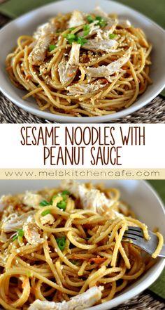 Sesame Noodles with Peanut Sauce