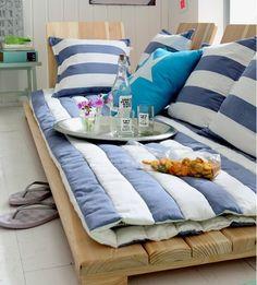 Ideias criativas - sofá de paletes está moda - Decoração e Ideias