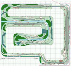 Large N scale model railroad layout track plan