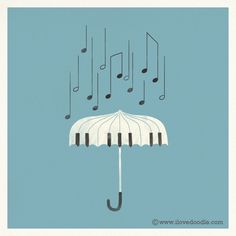 """""""Singing in the rain"""" by Lim Heng Swee http://www.ilovedoodle.com"""