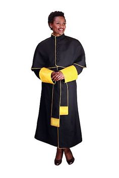 Regal Robes Unisex Robe RR9002 - Long sleeve unisex papal choir robe with a sash and capelet.