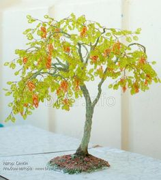 Грандиозное АкациОзное дерево | biser.info - всё о бисере и бисерном творчестве