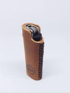 Beige leather lighter case, Lighter cover, Handmade lighter … – Bag World Leather Art, Sewing Leather, Leather Pattern, Leather Design, Leather Tooling, Leather Jewelry, Tan Leather, Leather Keychain, Leather Wallet