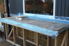 Bygga utekök med gjuten betongskiva - Inspiration