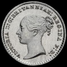 1871 Queen Victoria Young Head Silver Maundy Penny