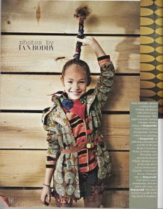 R'belle shorts and jacket in Feb issue of Vogue Bambini! www.circuslondonpr.com