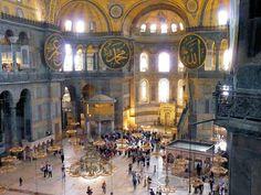 Interior de la Basílica de Santa Sofía en Estambul Dux, Painting, Dan Brown, Aesthetics, Byzantine Art, Viajes, Hagia Sophia, Istanbul, Book