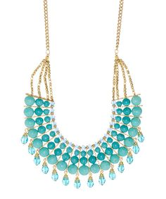 Look at this ZAD Blue Beaded Bib Necklace on #zulily today!