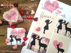 Valentine's Day DIY printables from Flower Crush - http://flowercrush.com/
