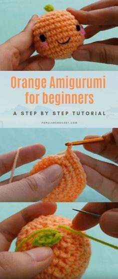 Orange Amigurumi for beginners – Crochet – – Amigurumi Free Pattern İdeas. Beginner Crochet Projects, Crochet Patterns For Beginners, Knitting For Beginners, Knitting Blogs, Easy Knitting, Knitting Patterns, Easy Crochet, Double Crochet, Cute Crochet